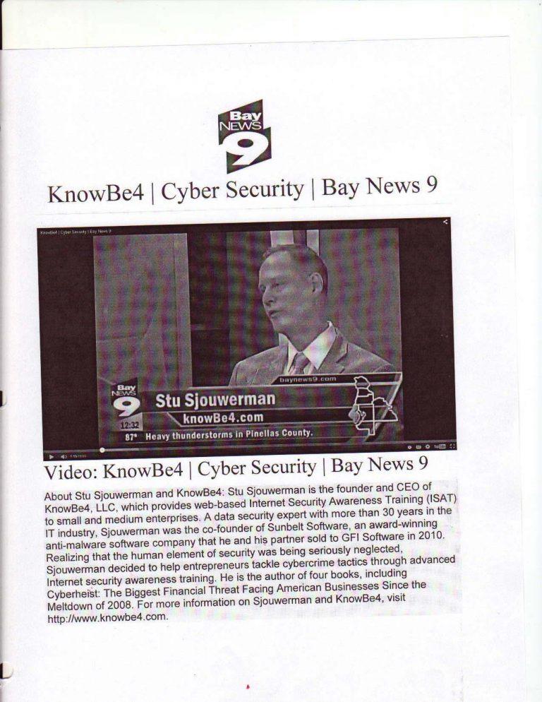 MRB Public Relations - KnowBe4